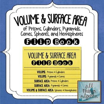 Volume & Surface Area Flip Book | Flippables and Interactive