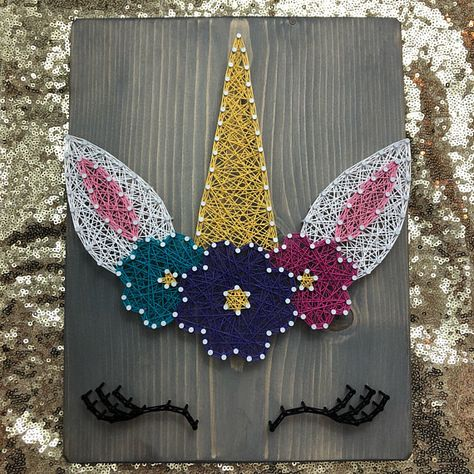 Unicorn String Art Unicorn Sign