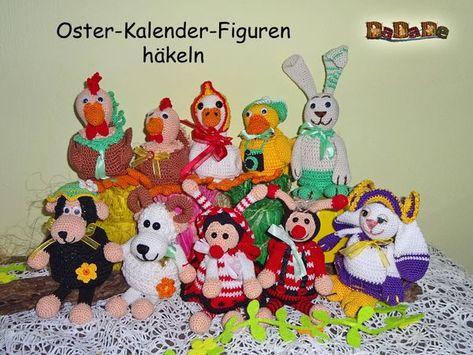 Photo of Osterkalender, Adventskalender und Geschenktaschen – gehäkelt von Dadade