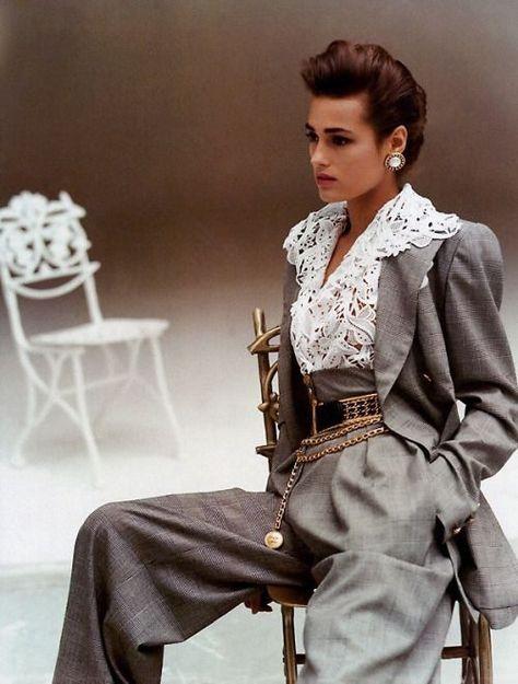 """yasmintresbon: """"Yasmin Le Bon for Vogue Paris by Arthur Elgort, March 1988 """""""