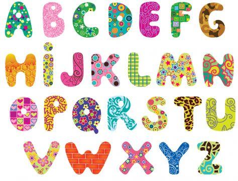 Printable Alphabet Clipart Applique Letters Cute Alphabet