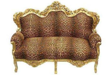 Casa Padrino Barock Sofa Garnitur Master Leopard Gold Barock