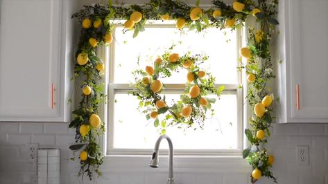 Lemon and Mixed Greenery Everyday Wreath