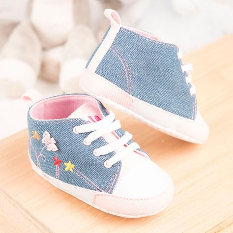 18a4145bb595 Personalised Baby Shoes - Pink