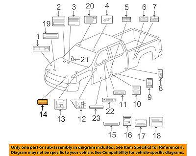 Gm Oem Labels Information Or Warning Sticker 24258938 In 2020 Labels Oem Things To Sell
