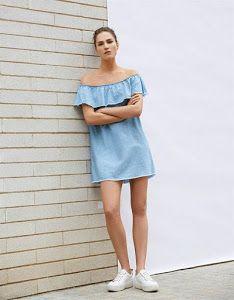 b376e4c97 Tutoriales de costura: blusa sin hombros denim | Di tutto della moda ...