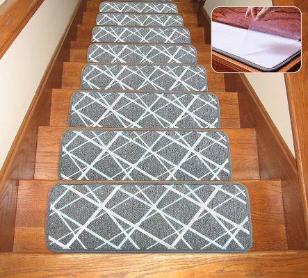 Soloom Non Slip Washable Stair Treads Carpet With Skid Resistant | Anti Slip Carpet For Stairs | Slip Resistant | Indoor Stair | Skid Resistant | Self Adhesive | Bullnose Carpet