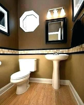 Brown Bathroom Color Ideas Paint Painting Two Colors Tone Pin By Nono On دهان Bathroom Wa In 2020 Bathroom Remodel Designs Small Bathroom Remodel Guest Bathroom Decor