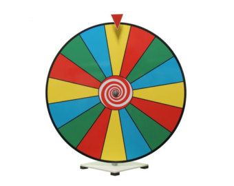 """Slight Defect Trade Show Game  Spinner Not-Erasable - 24/"""" Prize Spin Wheel"""