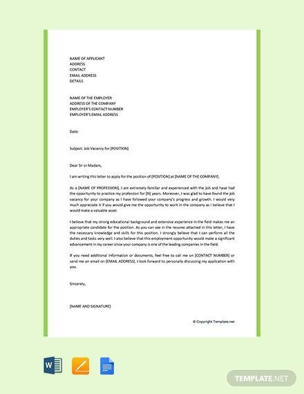 Free Motivation Letter For Job Application Motivation Letter For