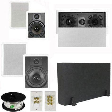 5 1 Home Theater 8 And 6 5 Speakers Center 8 Powered Sub And More Ts6w8wl51set1 By Theater Solutions 348 99 Home Audio Home Theater Home Audio Speakers