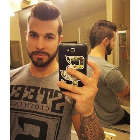 Men Self Haircut Mens Haircut Shaved Sides Mohawk Hairstyles Men Haircuts For Men