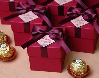 10-50 un Boda Fiesta Gigt Caramelo Cajas favor Box UK