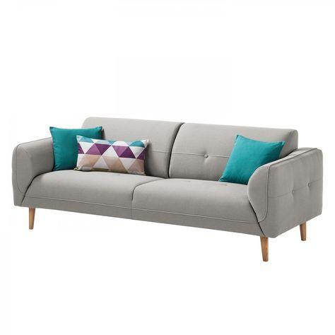 Sofa Cala 3 Sitzer Webstoff Eiche Natur Stoff Osta Graubraun Sofa Mit Relaxfunktion Sofas 3 Sitzer Sofa