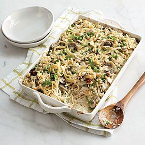 Chicken Tetrazzini Recipe   CookingLight.com #myplate, #protein, #veggie, #dairy