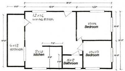 20 Ideas For Apartment Building Architecture Floor Plans Tiny House House Apartment 20x30 House Plans Duplex House Plans Guest House Plans