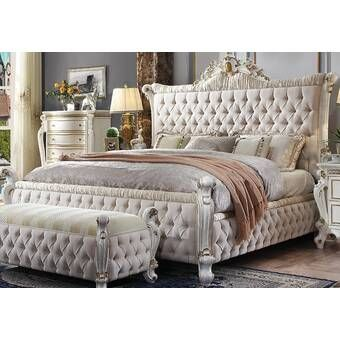 Pin By Nadia On My New Bedroom Set In 2020 Tufted Upholstered Bed Bed Sizes Bed