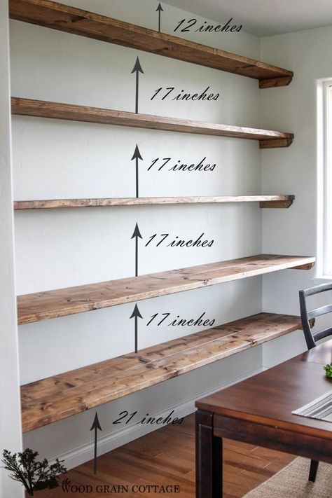 Install wall-to-wall shelving in a dining room. 42 Cheap And Easy Home Upgrades That Will Make Your Home Look More Expensive Install wall-to-wall shelving in a dining room. 42 Cheap And Easy Home Upgrades That Will Make Your Home Look More Expensive Diy Dining, Home Projects, Diy Dining Room, Shelves, Easy Home Upgrades, Shelving, Diy Furniture, Bookshelves Diy, Floating Shelves Diy