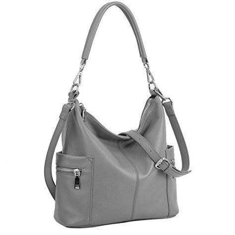 86e58b9de SALE PRICE - $49.99 - YALUXE Women's Multi Pocket Soft Cowhide Leather  Medium Purse Hobo Style Shoulder Bag