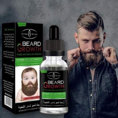 زيت نمو شعر اللحية Beard Growth لكثافة اللحيه والشنب وتكسير الفراغات وتقوية بصيلات الشعر Beard Beard Growth Beauty