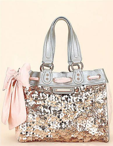 sequins and bow! :)  Juicy Couture DayDreamer Bag: Sequined DayDreamer Bags