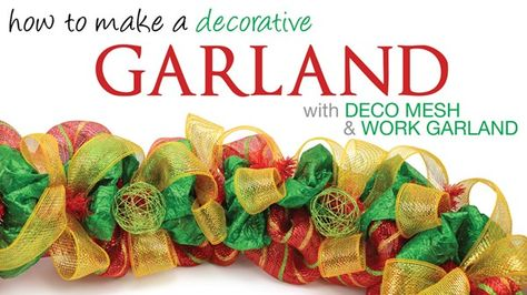 Wire balls used in a Christmas Deco Mesh Garland : A Video Tutorial