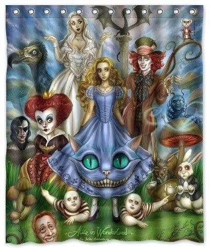 Alice In Wonderland Curtains Film In Wonderland Shower Curtain