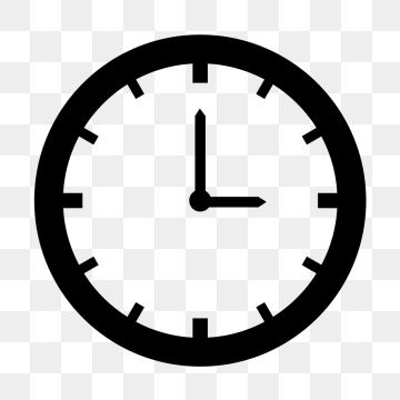 Vector Clock Icon Clock Time Timer Png And Vector With
