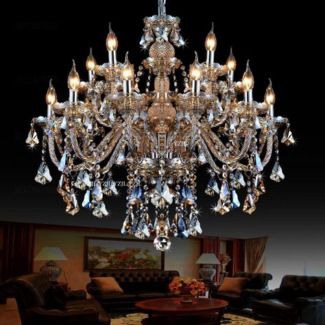 US $1796.0 |Europe Villa living room crystal lamps floor stairs in the hotel lobby engineering crystal chandeliers Upscale atmosphere|crystal