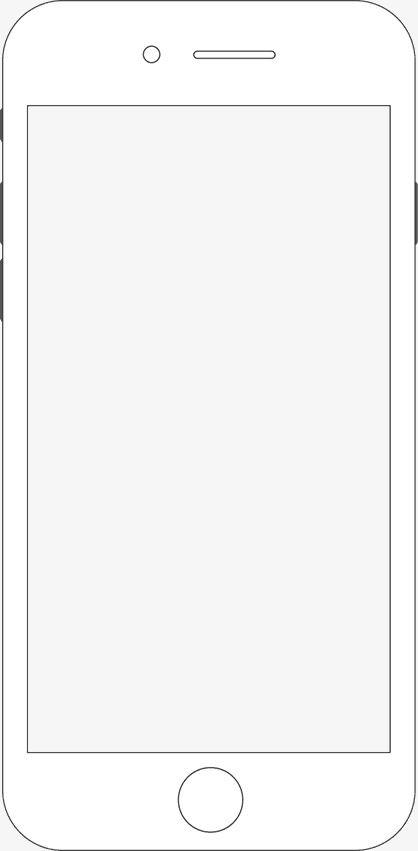 Iphone White Phone Cartoon Mobile Phone Phone Png Transparent