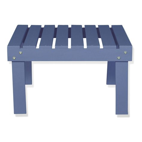 Table basse de jardin en acacia lasuré bleu - Bergonce ...