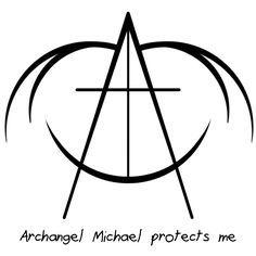 "Sigil Athenaeum - ""Archangel Michael protects me"" Protection Sigils, Symbole Protection, Magic Symbols, Symbols And Meanings, Archangel Michael Tattoo, Angelic Symbols, Archangel Raphael, Raphael Angel, Symbolic Tattoos"