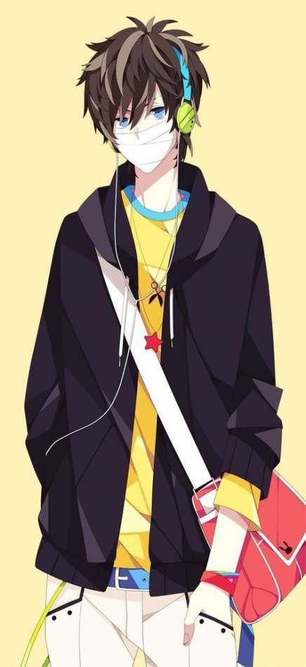 17 Ideas Hair Brown Girls Anime Hoodie Anime Guys Anime Guys With Glasses Anime Guys Shirtless