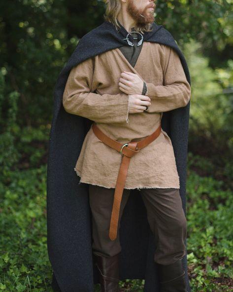Northman Wool Viking Cloak with Broach