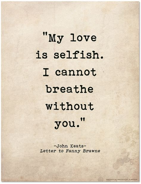 Romantic Quote Poster - John Keats Literary Print for Home or School - Echo-Lit