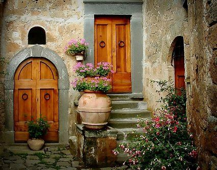 doors in a courtyard