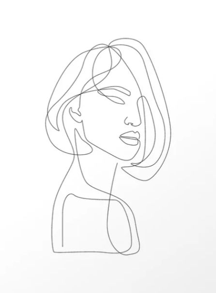 """""""Flirty"""" by Explicit Design  #line #minimal #continuous-line #illustration #single-line #one-line-drawing #prints #artprint #interiordesign #decor #wall #gallery"""