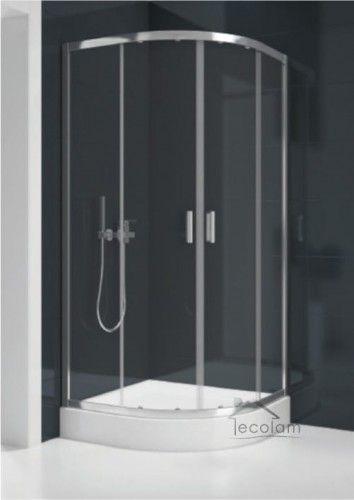Duschkabine Dusche Transparentes Glas 90x90 Cm R55 185 Cm Suvia