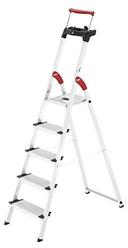 Hailo 8030 501 Comfortline Xxr 5 Tread Deluxe 13cm Steps By Hailo Review Bathroom Exhaust Fan Bathroom Ventilation Fan Telescopic Ladder