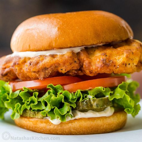 How to make the best chicken sandwiches! Learn the secret to fried chicken that is crisp on the outside and juicy and tender inside. This is better than Popeyes chicken sandwich and Chick fil As famous chicken sandwich. A Homemade crispy chicken sandwich just tastes fresher!