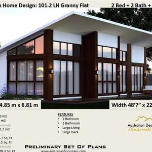 101 2 M2 Or 1089 Sq Foot Australian 2 Bedroom House Plan Small And Tiny House Plans Metric Under 1200 Sq Foot House Plans Barn Style House Plans Small House Design House Plans