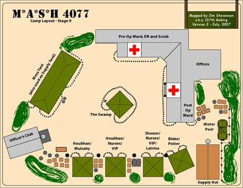 Camp Layout - Stage 9 M*A*S*H Mash 4077, Best tv shows, 80 tv shows