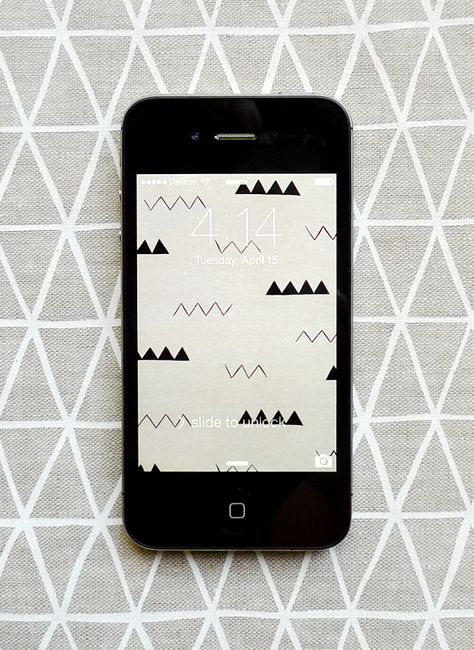 Linen Zig Zag iPhone wallpaper from Cotton & Flax