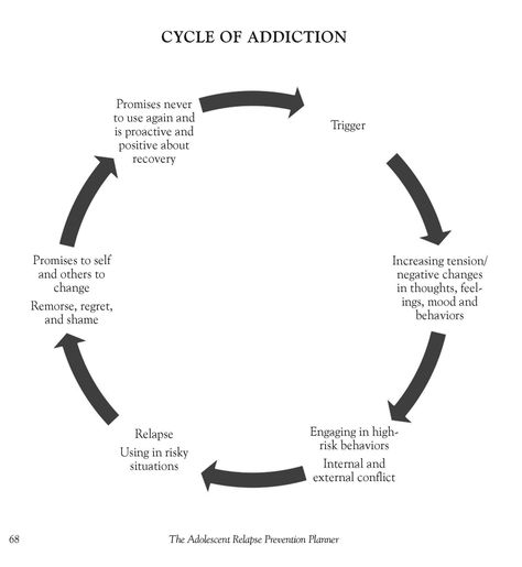 Addiction Cycle- the cycles of addiction as a disease, relapse and psycho-social stressors; safety planning and triggers; prevention and sobriety through modalities like psychotherapy; motivational interviewing and Harm reduction
