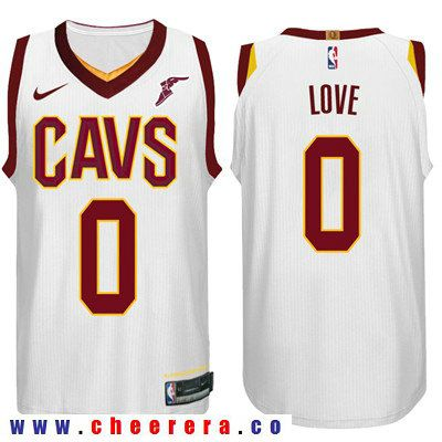 904448cd244 Nike NBA Cleveland Cavaliers  0 Kevin Love Jersey 2017 18 New Season White  Jersey