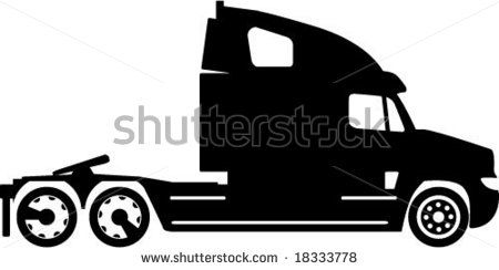Semi Truck Silhouette Artwork With Images Clip Art Silhouette