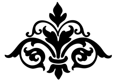 free stencil pattern | The Graphics Fairy LLC*: Instant Art Printable Downloads - Damask ...