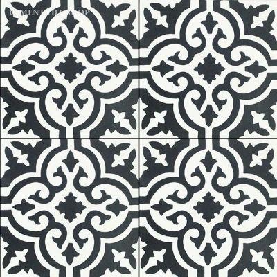 In Stock Bordeaux Pattern Http Www Cementtile Encaustic Cement Tile Html Design Pinterest Kitchens Moroccan And Black