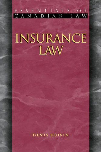 Download Pdf Insurance Law Essentials Of Canadian Law Free Epub
