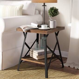 Rex Glass Top Frame End Table In 2020 Living Room End Tables Farmhouse End Tables End Tables
